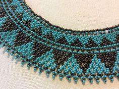 Turquoise et bronze Collier Collier de par Beadsandbaublesdall