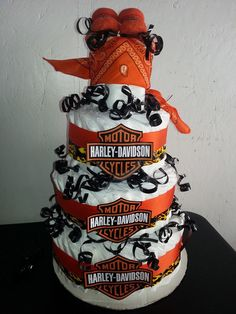 Wonderful Harley Davidson Diaper Cake 1