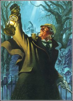 """An illustration of Sherlock Holmes from """"The Hound of the Baskervilles"""""""