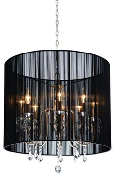 Claremont Collection Black Contemporary Chandelier. #EuroStyleLighting #Sweepstakes #Chandeliers  See more... http://www.eurostylelighting.com/contemporary-search/chandeliers-category/search.htm