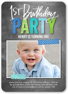 Joy all around boy first birthday invitation hayes 1st bday preppy patterned boy first birthday invitation filmwisefo