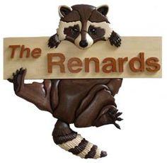 Raccoon Swings Intarsia Pattern