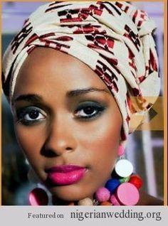 African Fashion Head Wrap | 10 Fantastic Head Wraps (Gele) | An African / Nigerian head wrap is ...