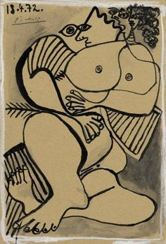 Nu by Pablo Picasso on Widewalls. Browse more artworks by Pablo Picasso and auction records with prices and details of each sale! Pablo Picasso Drawings, Picasso Cubism, Picasso Paintings, Art Drawings, Oil Paintings, Landscape Paintings, Oil Painting Abstract, Watercolor Artists, Painting Art