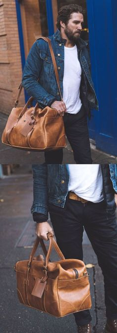 Your new classic duffle bag. This will be a workhorse for travel, gym, or just running around town. Made by Whipping Post.