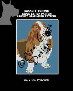 Basset Hound Cross Stitch Pattern