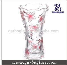 Stock colored glass vase /sanding and colored glass vase