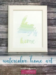 Craftaholics Anonymous® | Watercolor decor, is so popular these days! Here is a tutorial so you can do your own
