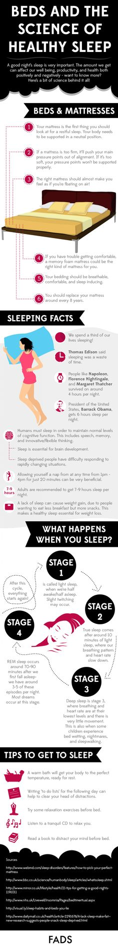 Beds and the Science of Healthy Sleep Infographic
