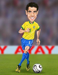 Kaka Celebrity Faces, Celebrity Caricatures, World Football, Football Fans, Funny Soccer, Cartoon Faces, Cartoon Design, Smileys, Sports Stars