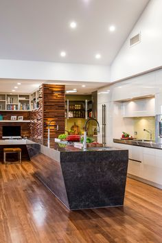 Brisbane's Darren James takes out top kitchen design award - The Interiors Addict Timber Cladding, Interior Design Services, Beautiful Kitchens, Design Awards, Kitchen Design, Kitchen Modern, Contemporary Design, Home Remodeling, House Design