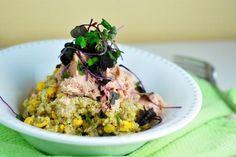 Vynikajúca quinoa s bazalkovým pestom a tuniakom, vhodná ako zdravá večera… Quinoa, Tofu, New Recipes, Risotto, Grains, Fitness, Cooking, Ethnic Recipes, Diet