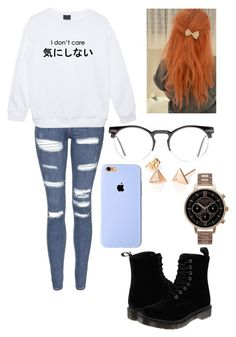 """""""I don't care"""" by batgirl-373 ❤ liked on Polyvore featuring Topshop, Spitfire, Dr. Martens and Olivia Burton"""