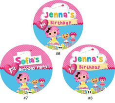 Lalaloopsy cupcake toppers - tags - stickers Printable file on Etsy, $6.00