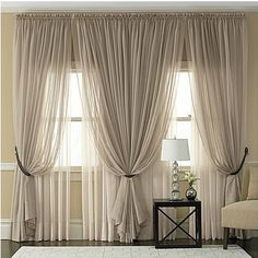 Stunning Living Room Curtain Ideas Comfortable Living Room 11 - Home Decor Ideas 2020 Cute Curtains, Voile Curtains, Neutral Curtains, Modern Curtains, Country Curtains, Porch With Curtains, Double Window Curtains, Tulle Bedskirt, Fringe Curtains