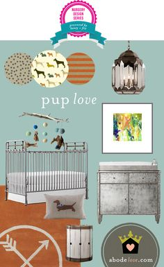 So crazy about this pup love nursery design from @abode love // Honey + Fitz