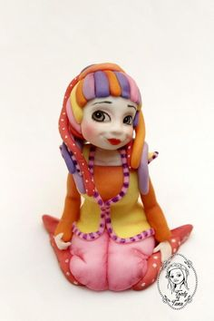 by favorite characters :-) Fíha tralala is cheerful, colorful, has great songs and in our very popular in Slovakia. Kids love it :-) Princess Peach, Disney Princess, Polymer Clay Figures, Gum Paste, Clay Creations, Cake Designs, Amazing Cakes, Cake Toppers, Fondant