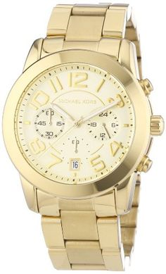 136b12ffc323 Michael Kors MK5726 Ladies Chronograph Gold Watch Michael Kors  http://www.amazon