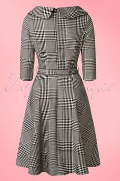 Vixen Black and White Houndstooth Dress 102 14 16313 20151111 0010WA