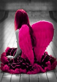 Pink angel color splash ~ by Ladee Pink More