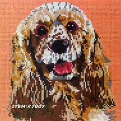 Mostaix mosaic tile puzzle art Easy To Do NEW    DOG #Mostaix