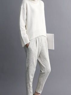 White knitted outfit | Image via tfknitwear.tumblr.com