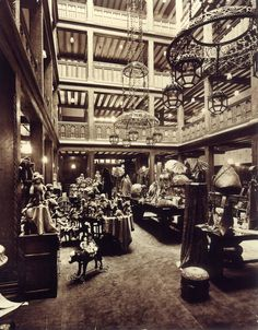 Our old toy atrium l Liberty of London - I just want to go there...