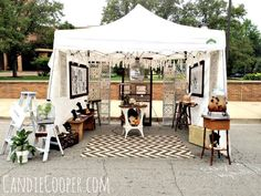 How to Set Up an Art Fair Tent - Candie Cooper (general aesthetic i'd like to go for)