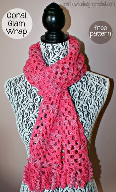 Free Coral Glam Wrap Crochet Pattern