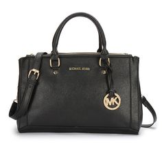 Michael Kors Outlet Logo Large Black Satchels