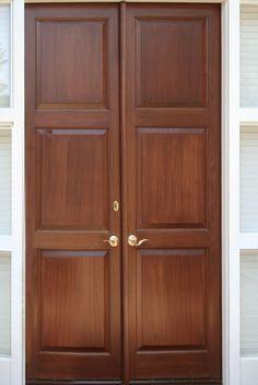 New wood door panel kitchen cabinets Ideas Double Front Doors, Wood Front Doors, Wooden Doors, Main Entrance Door Design, Entrance Doors, Raw Wood Furniture, Double Door Design, Wood Carving Designs, Wooden Door Design