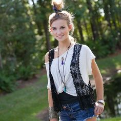 Cropped Crochet Vests add a bohemian pop to an outfit! :)