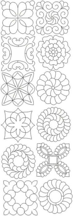 Advanced Embroidery Designs - Quilting Pattern Set II.