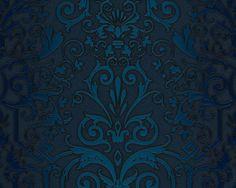 Tapete Versace Herold col. 06   Klassische Tapeten in den Farben Petrol, Schwarz   Grundton Petrol
