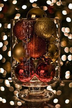 Add your own ornaments to any glass jar ...maybe add battery operated lights.