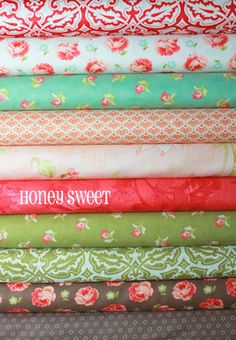 Honeysweet by Fig Tree and Co. - 10 Fat Quarter Bundle Quilt Fabric