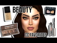 Sims 4: CC Beauty Faves #2 | Eyelashes, Trendy Eyebrows, Skins + more!! - YouTube