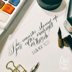 Black ink is something that I've been missing indeed if only it doesn't wreck my hunt 101 that much I would've keep coming back to it  . . . #calligraphylove #moderncalligraphy #calligraphy #handlettering #brushlettering #amonstercalls #patrickness #bookquote #amonstercallsquote #moviequote #letteringquote