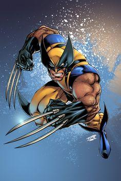 Wolverine pencils by Joe Madureira, inks by Tim Townsend