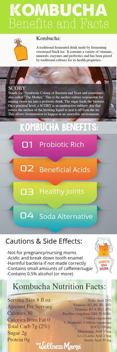 So happy I discovered the benefits of delicious Kombucha Tea! Benefits and Facts Infographic