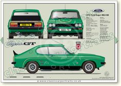 Ford Capri RS 3100 1974 classic car portrait print – My CMS Ford Capri, Classic Mercedes, Ford Classic Cars, Best Classic Cars, Mercury Capri, Cars Uk, Car Ford, Auto Ford, British Sports Cars