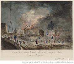 Incendie du corps de garde du Pont-Neuf le 29 août 1788  non identifié, 1788