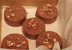 Chocolate covered Oreos  with  caramel  and nuts