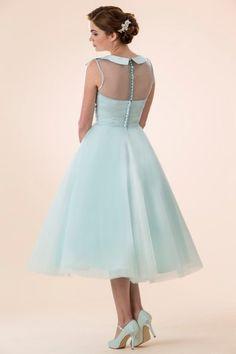 tb-m580-belle Tea length retro Fifties inspired bridesmaid / prom dress