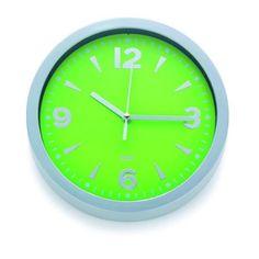 Diese moderne Wanduhr informiert über die Zeit und erfreut das Auge. Sie ist aus grünem Kunststoff und lässt sich ganz leicht anbringen. Das zeitgemäße Design verleiht Ihrem Zuhause eine elegante Note und macht es individuell. Gönnen Sie sich diese bezaubernde Uhr!