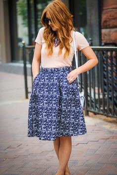SALT: The Guide to Wearing A-Line Skirts http://www.saltstyleblog.com/2014/08/the-guide-to-wearing-line-skirts.html