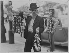 A Vendor Offering Fish Strung in Wreaths, Sao Paulo, 1939 Christie's Timeless: National Geographic as Celebrated by TASCHEN Books