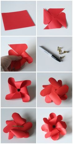 Ho to make a pinwheel poppy