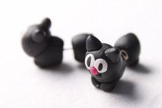 Návod na dvoudílné náušnice z FIMO hmoty - kočky