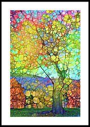 The Contagious Laughter Of Trees Framed Print by Tara Turner